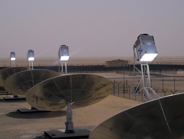 Cleanergy CSP SolarBox Testanlage in Dubai (Foto: Cleanergy AB)