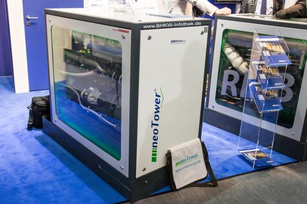 ISH 2015: RMB/Energie neoTower Premium M+ mit Yanmar-Motor