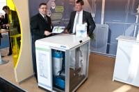 Das Intelli Heimkraftwerk auf der Hannover Messe 2012 (Foto: BHKW-Infothek)