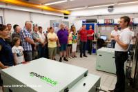 Großer Besucherandrang bei den Werksführungen (Foto: BHKW-Infothek)