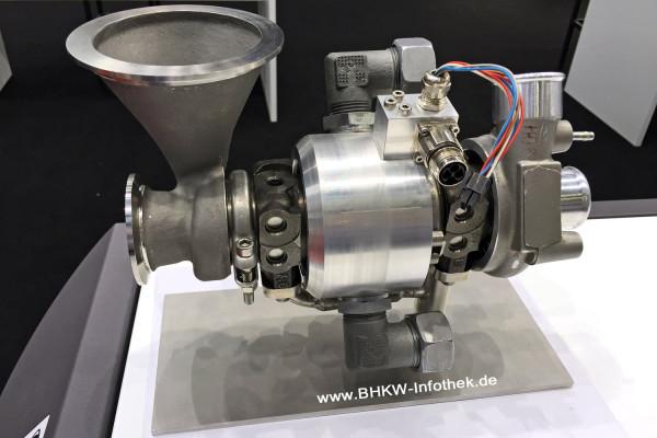 Herzstück des EnerTwin: Eine Mikrogasturbine auf Basis eines KFZ-Turboladers