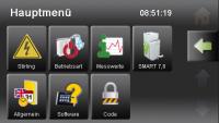 Pelletronic Touch Screenshot Hauptmenü (Bild: ÖkoFEN)