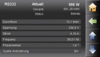 Pelletronic Touch Screenshot Leistung (Bild: ÖkoFEN)