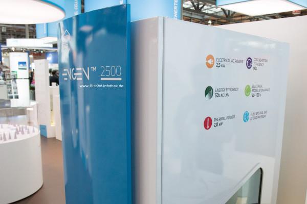 EnGen-2500 mit den relevanten Eckdaten in der Nahaufnahme