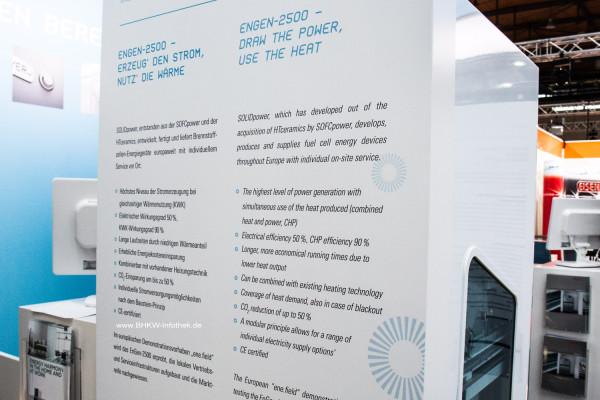 Beschreibung der SOLIDpower EnGen-2500 durch die IBZ auf der HMI 2015