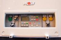 Die Steuerung des Wolf GTK 7 von Kuntschar und Schlüter auf der SHK Essen 2012 (Foto: BHKW-Infothek)