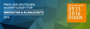 Preis der deutschen Gaswirtschaft für Innovation und Klimaschutz