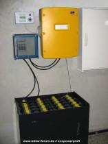 Batteriespeichersystem mit SMA Sunny Island (Bild: BHKW-Diskussionsforum // ecopowerprofi)