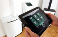 Ansteuerung des ecoPOWER 1.0 mit dem iPad (Bild: Vaillant)