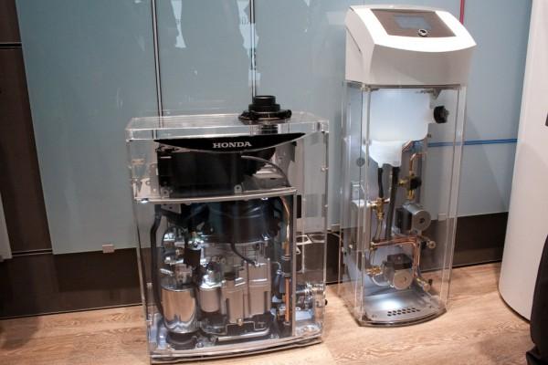 Gläsernes Vaillant ecoPower 1.0 bei der Weltpremiere auf der ISH 2011
