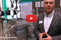Videostandbild zum ecoPOWER 20.0 von Vaillant auf der ISH 2013 (Bild: BHKW-Infothek)
