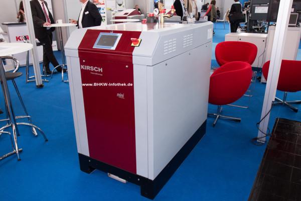 Kirsch mini20 auf der Hannover Messe 2014 (Bild: BHKW-Infothek)